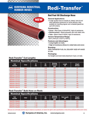 Redi Transfer Red Fuel Hose