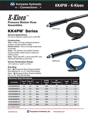 Hydraulic Connections K-Kleen