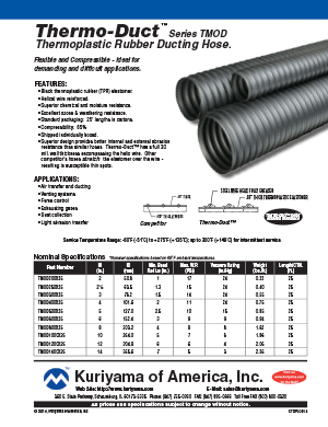 Ducting Hose Flyer Thermo Duct